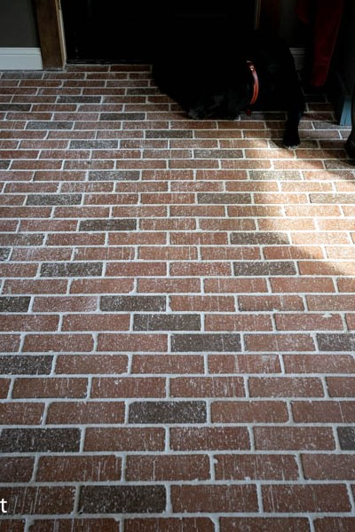 How to Clean Your Brick Floor Pavers | North Country Nest