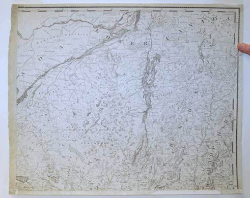 Adirondack Attic  an 1818 map of the North Country   NCPR News John Eddy s 1818 map of the Adirondack North Country region  Photo   Adirondack Museum
