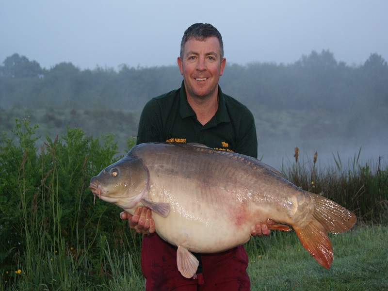 Mick Whitfield with his 45lb 2oz mirror carp