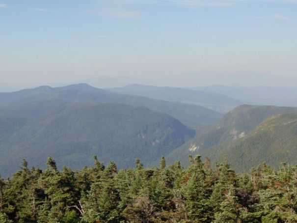The view of Mahoosuc Notch from the Old Speck Mountain fire tower.