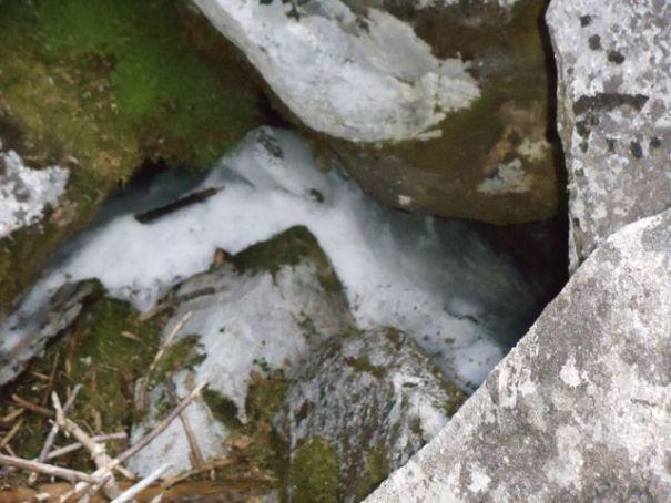 Snow in Mahoosuc Notch.