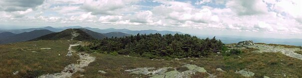 Maine Appalachian Trail atop Saddleback Mountain.