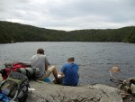 Speck Pond on the Maine Appalachian Trail hike.