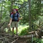 Maine Appalachian Trail on northeast side of Baldpate Mountain