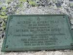 Myron Avery plaque on Bigelow Mountain