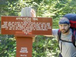 100-Mile Wilderness entrance on the Maine Appalachian Trail hike