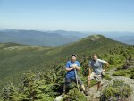 East Peak of Goose Eye Mountain on Maine Appalachian Trail hike