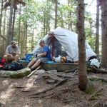 Full Goose Shelter on Goose Eye Mountain; Maine Appalachian Trail hike