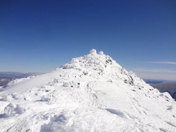 Mt. Madison Summit in Winter on the Appalachian Trail