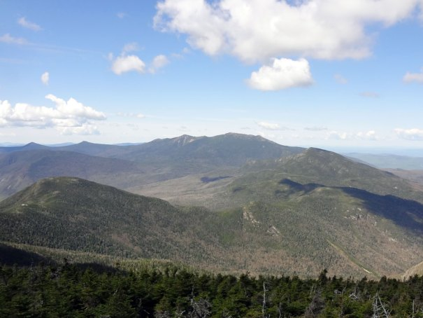 North Twin View of Mt. Garfield, Mt. Lafayette and Franconia Ridge