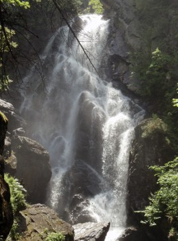 Looking for hiking fun? Just add waterfalls. Pictured here is Angel Falls near Rangeley, Maine.