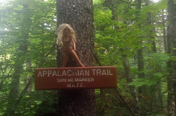 Appalachian Trail Barbie in the Bigelow Range