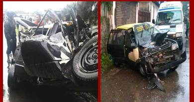 Shillong; Six injured in a road accident