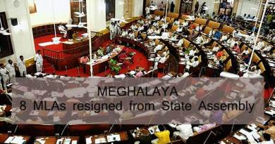 Meghalaya:  8 MLAs, 5 from Congress resigned from Assembly