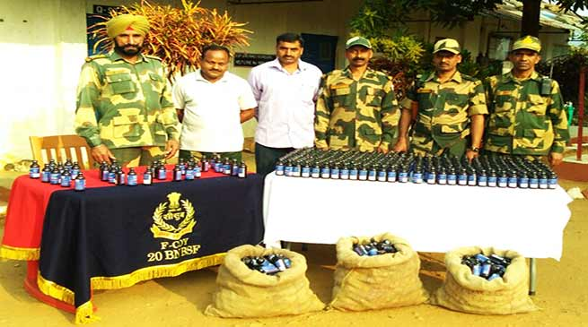 Meghalaya: BSF Seizes huge Phensedyl on international border