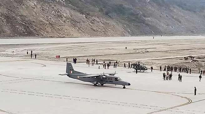 Sikkim : First Aircraft lands at Pakyong Airport