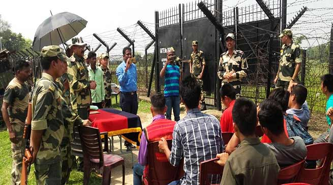 Mizoram: Mizo Farmers Witness Gate Management Drills held at Indo-Bangladesh Border