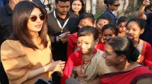 Priyanka Chopra perform Bihu with Assam School Girls