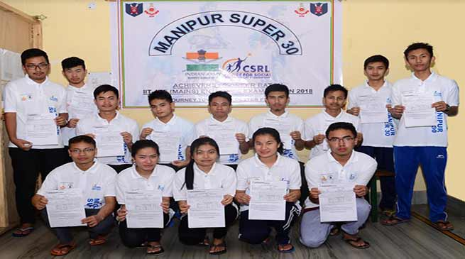 Manipur:Army's 'project 30' provides free coaching for IIT/JEE main exam