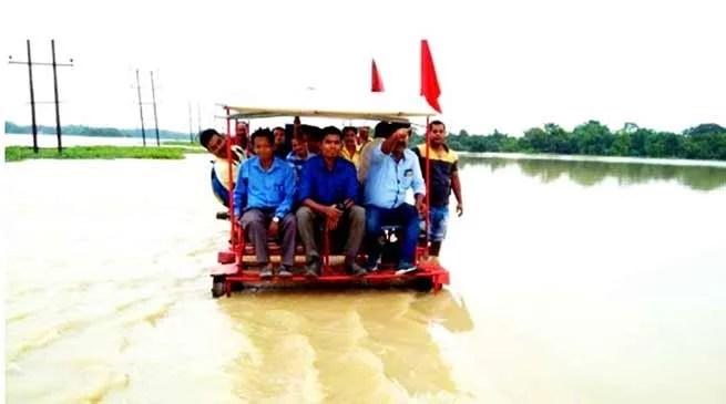 Assam Flood: NF Railway runs Relief Sorties on Trolleys in Flood-Hit areas