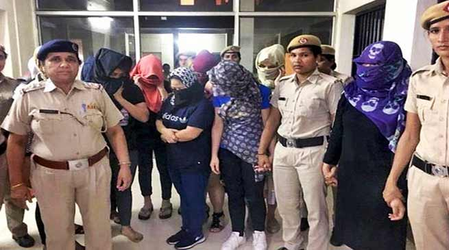 Sex Trade:15, including,foreigners, Manipuris arrested from Gurgaon spa