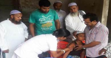 Assam : Measles Rubella vaccination campaign begins in Hailakandi