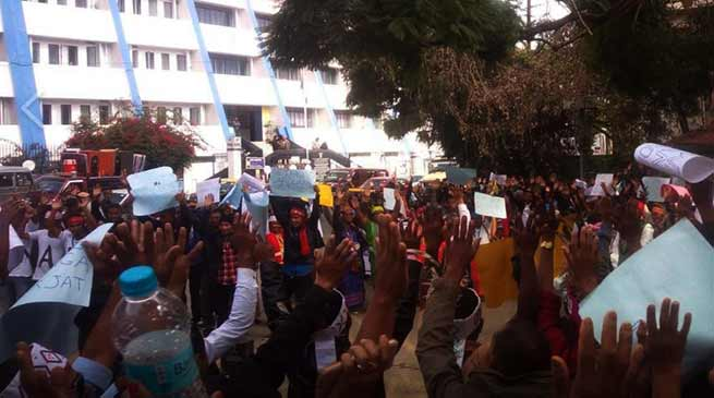 Meghalaya : GSMC organises protest march for separate Garoland