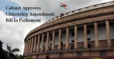 Cabinet Approves Citizenship Amendment Bill In Parliament