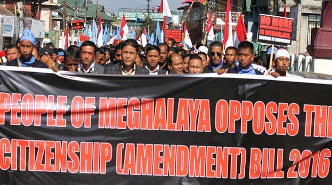 Meghalaya: BJ MLA threatens to quit party over Citizenship Bill