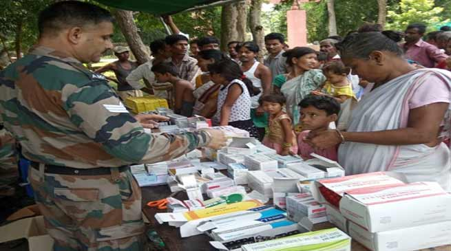 Army conducts large scale flood relief operations in Assam