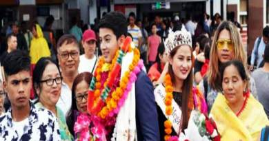 Manipur: Lukanand Kshetrimayum and Langpoklakpam Melody receive a rousing welcome at Imphal