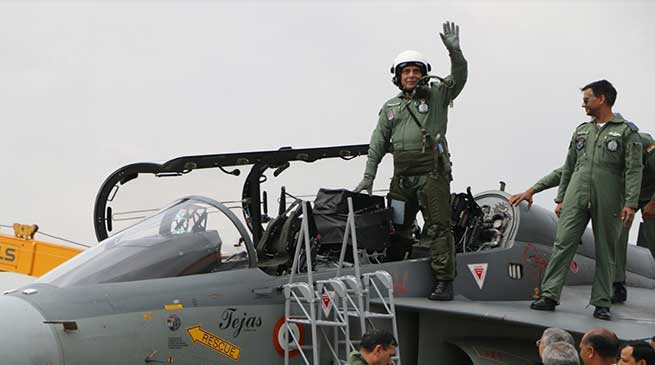 Rajnath Singh becomes first Raksha Mantri to fly 'LCA Tejas'