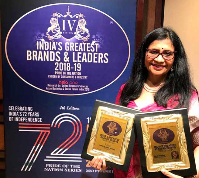 A K Pansari and RGS awarded with India's greatest leaders and brands 2018-19