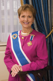 Merry Ann T. Wright; President General DAR.