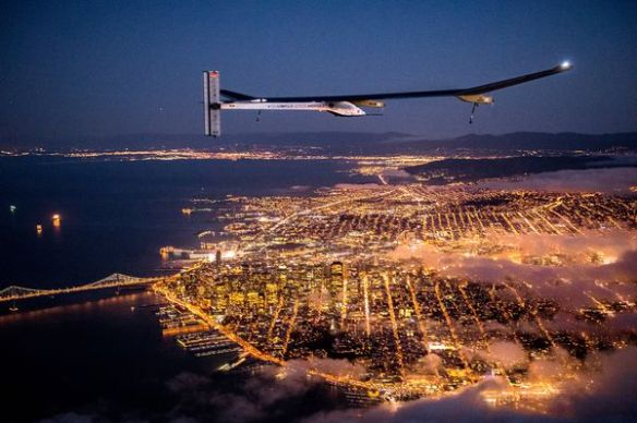 Solar Impulse over San Francisco
