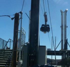 Zipline ride almost complete.