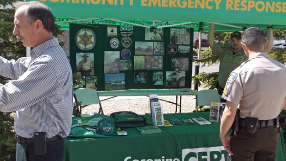 CERT display by Sheriff's Department.