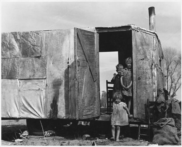 """""""On Arizona Highway 87, south of Chandler. Maricopa County, Arizona."""" by Dorothea Lange - U.S. National Archives and Records Administration. Licensed under Public Domain via Wikimedia Commons"""