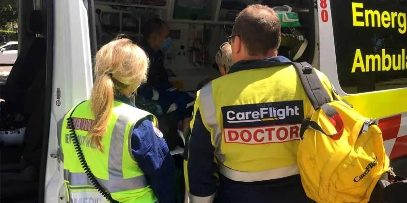 CareFlight and Ambulance paramedics
