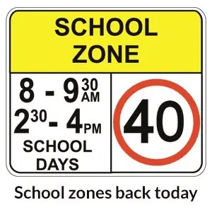 School zones back