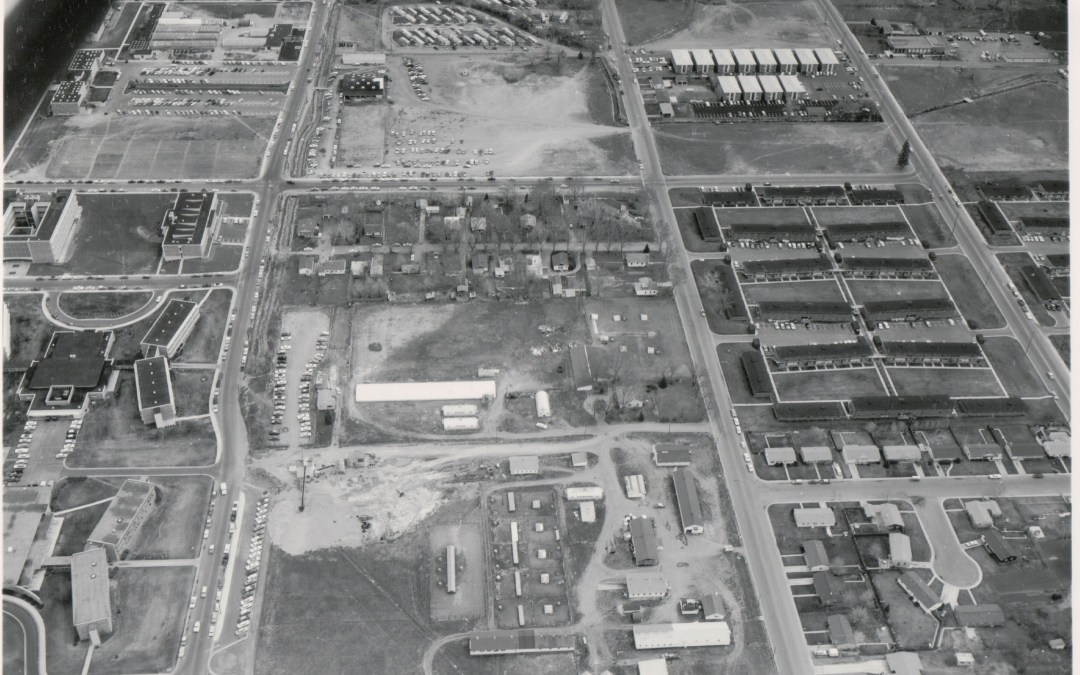 Then & Now: the land where the CSU stadium will stand