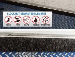Brush Weather Seal For Dock Doors