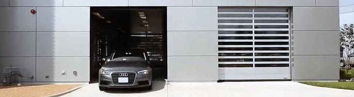 High-speed rigid door