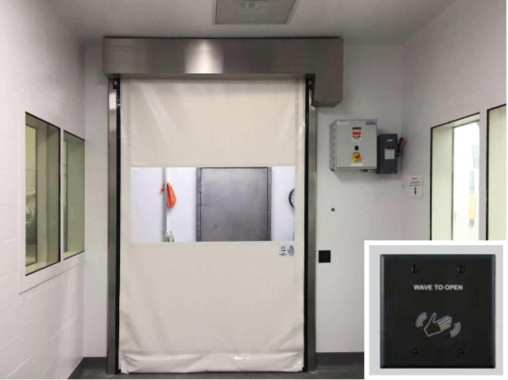 Pharmaceutical Touchless High Speed Fabric Doors