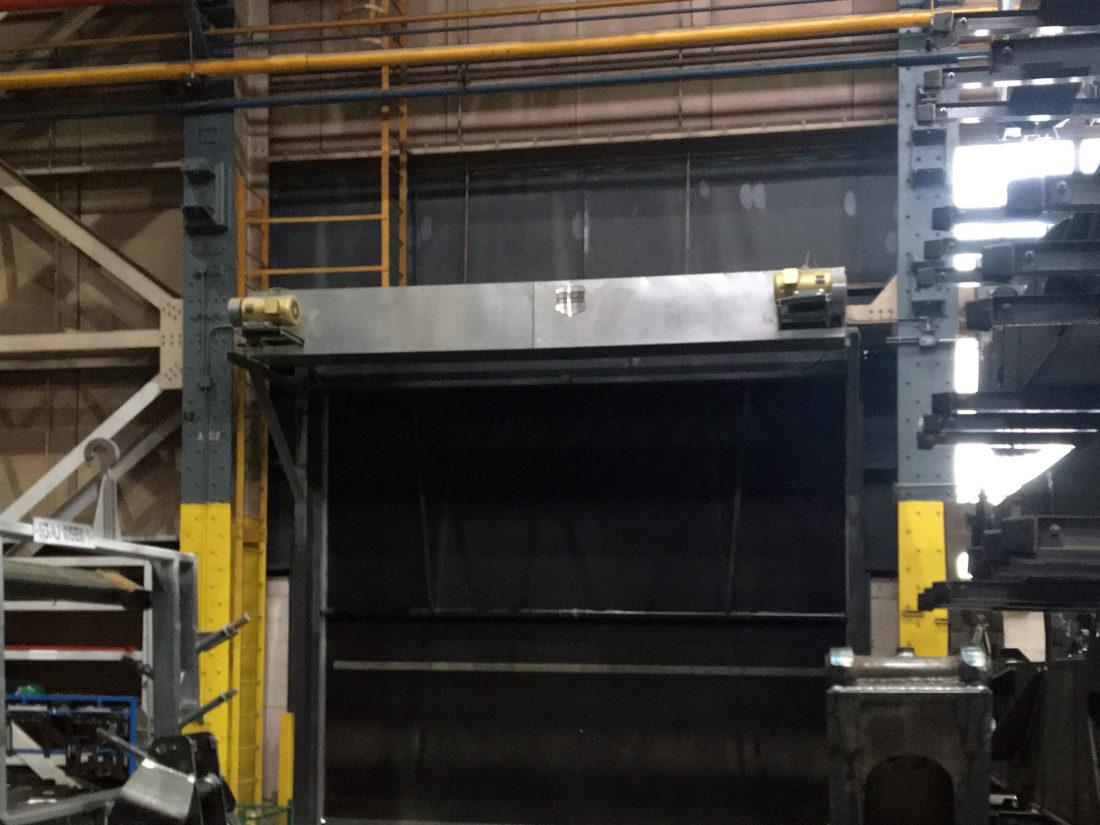 High-Speed Rubber Door with Air Barrier