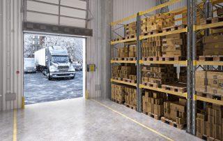 Industrial direct drive air curtain warehouse
