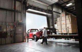 Industrial direct drive air curtain drive through door