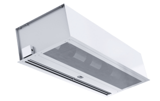 Architectural recessed air curtain white