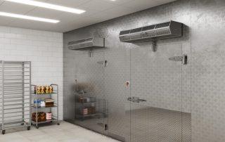 Commercial low profile air curtain restaurant food industry freezer door