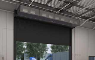 air curtains create up to a 90 seal on